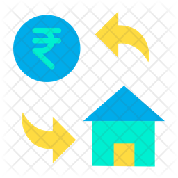 Rupees Home Cost Icon