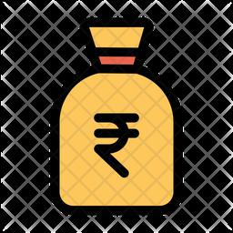 Rupees Money Bag Icon