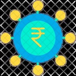 Rupees spending Icon