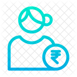 Rupees User Gradient Icon