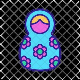 Russian Nesting Doll Icon