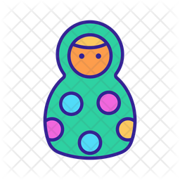 Russian Nesting Doll Icon