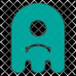 Sad Flat  Emoji Icon
