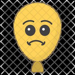 Sad Balloon Emoji Icon
