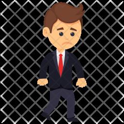 Sad Businessman Icon