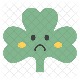 Sad Coriander Emoji Icon