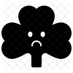 Sad Coriander Face Emoji Icon