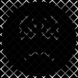 Sad Face Emoticon Emoji Icon