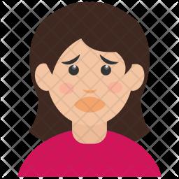 Sad Girl Icon