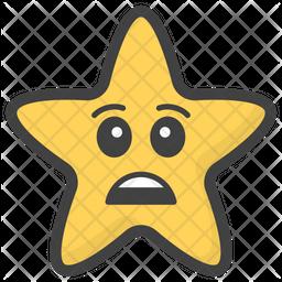 Sad Star Emoji Icon