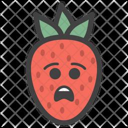 Sad Strawberry Emoji Icon
