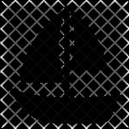 Sailboat Glyph Icon