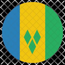 Saint vincent Flag Icon
