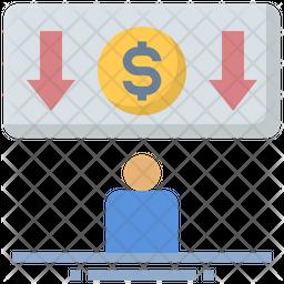 Salary Reduction Icon