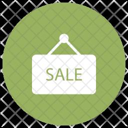 Sale Badge Glyph Icon