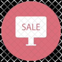 Sale Board Glyph Icon