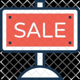 Sale board Colored Outline Icon