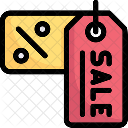 Sale Discount Labels Colored Outline Icon