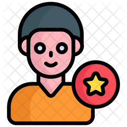 Sale Man Colored Outline Icon