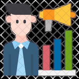 Salesman Marketing Icon
