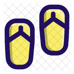 Sandal Colored Outline Icon