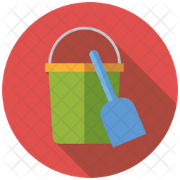 Sandbucket and shovel Icon
