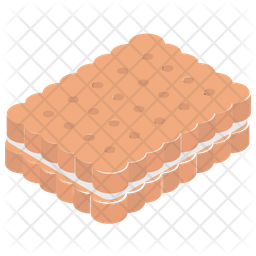 Sandwich Biscuit Icon