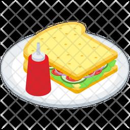 Sandwich Platter Vector Icon