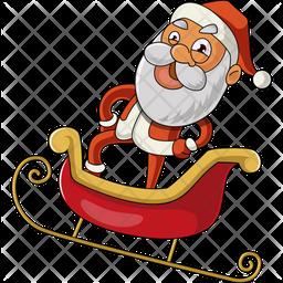 Santa On His Sleigh Icon