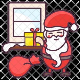 Santa with Presents Icon