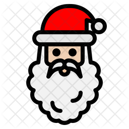 Santaclaus Colored Outline Icon