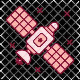 Satellite Colored Outline Icon