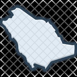 Saudi Colored Outline Icon