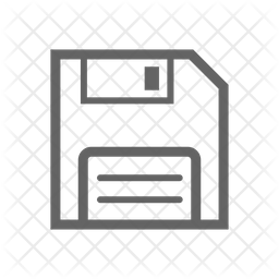 Save Line Icon