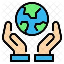 Save earth Colored Outline Icon