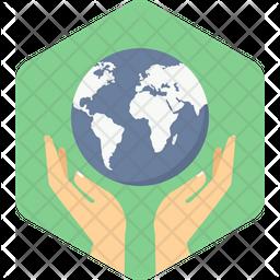 Save Earth Flat Icon