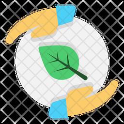 Save Ecology Flat Icon