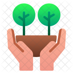 Save forest Flat Icon