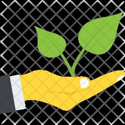 Save Greenery Flat Icon