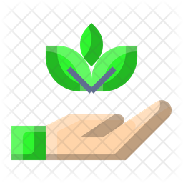 Save Leaves Flat Icon