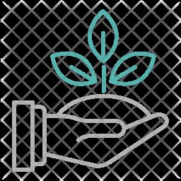 Save plant Line Icon