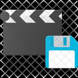 Save video Flat Icon