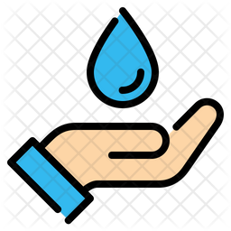 Save water Colored Outline Icon