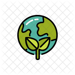 Save world Colored Outline Icon