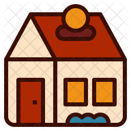 Saving money for home Colored Outline Icon