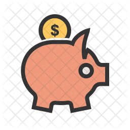 Savings Colored Outline Icon