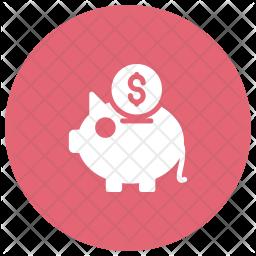Savings Glyph Icon