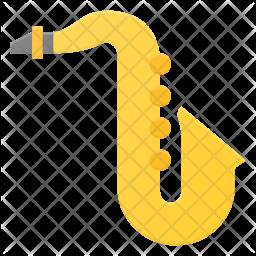 Saxophone Flat Icon
