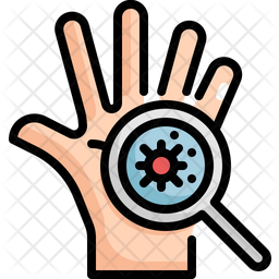 Scan Virus On Hand Icon