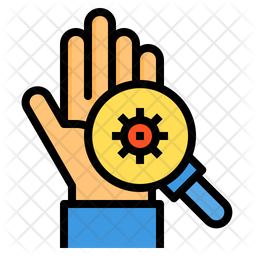 Scan Virus On Hand Icon